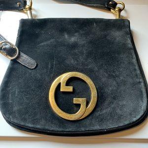 Vintage Suede Gucci bag